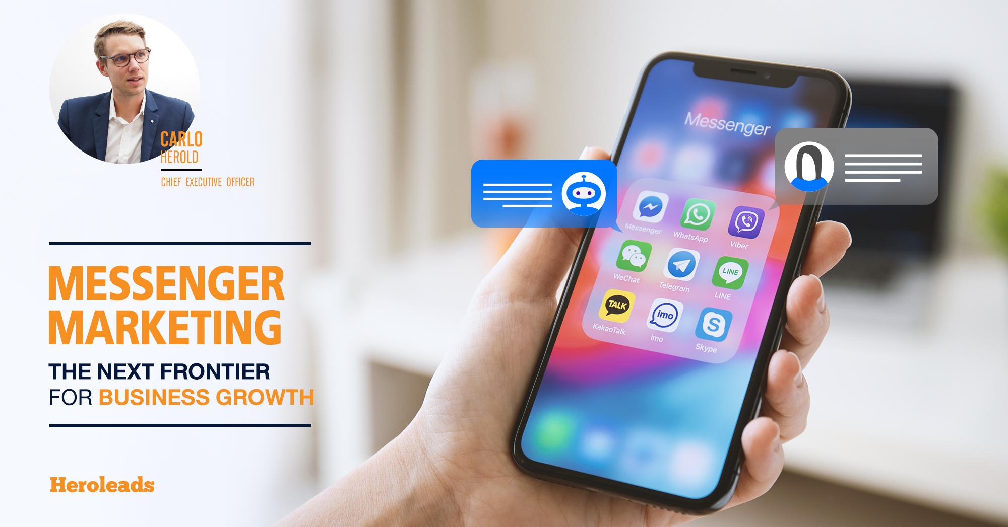 Messenger Marketing, E-commerce, line, facebook, whatapp, web chat